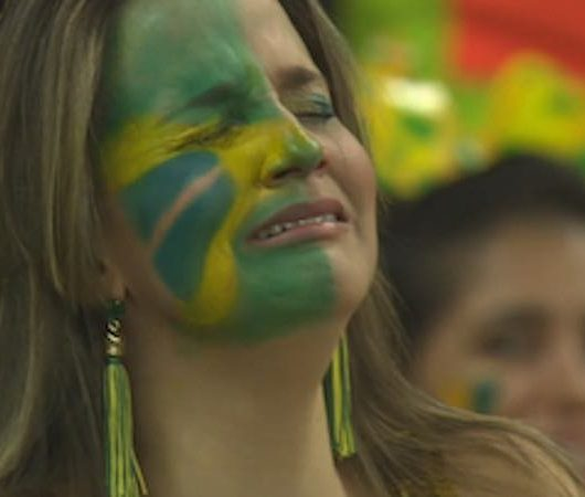 Brazil 1, Germany 7. Image: BBC