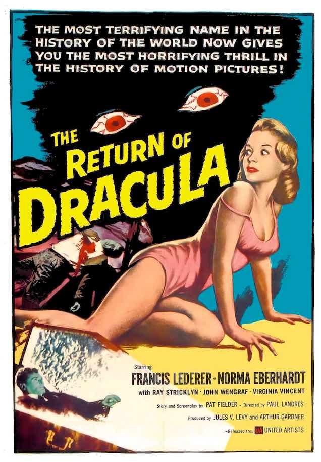 Return of Dracula film poster