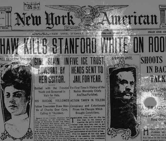 Excess, patriarchy and the murder of Stanford White
