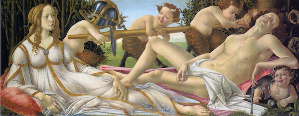 Venus and Mars, painting by Botticelli