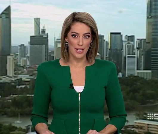 Newsreader shamed for penis-shaped jacket neckline