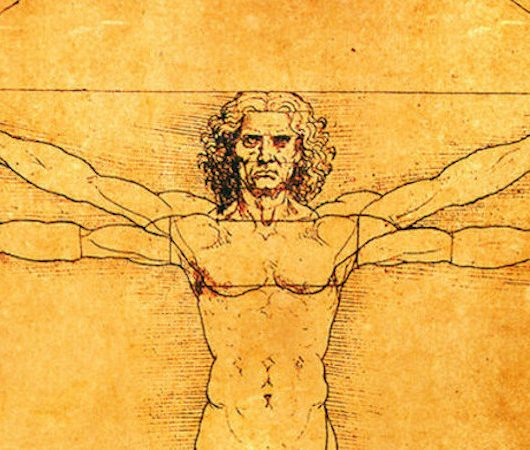 Da Vinci's Vitruvian Man – the 'ideal man' is free of shame
