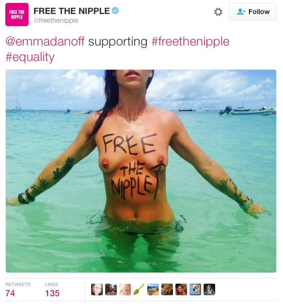 21st Century — #freethenipple Twitter campaign