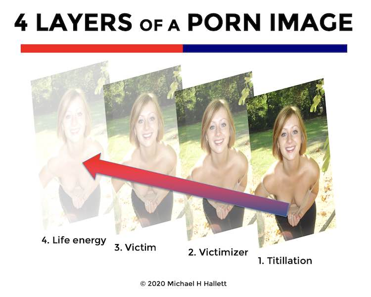 4 Layers of a porn image